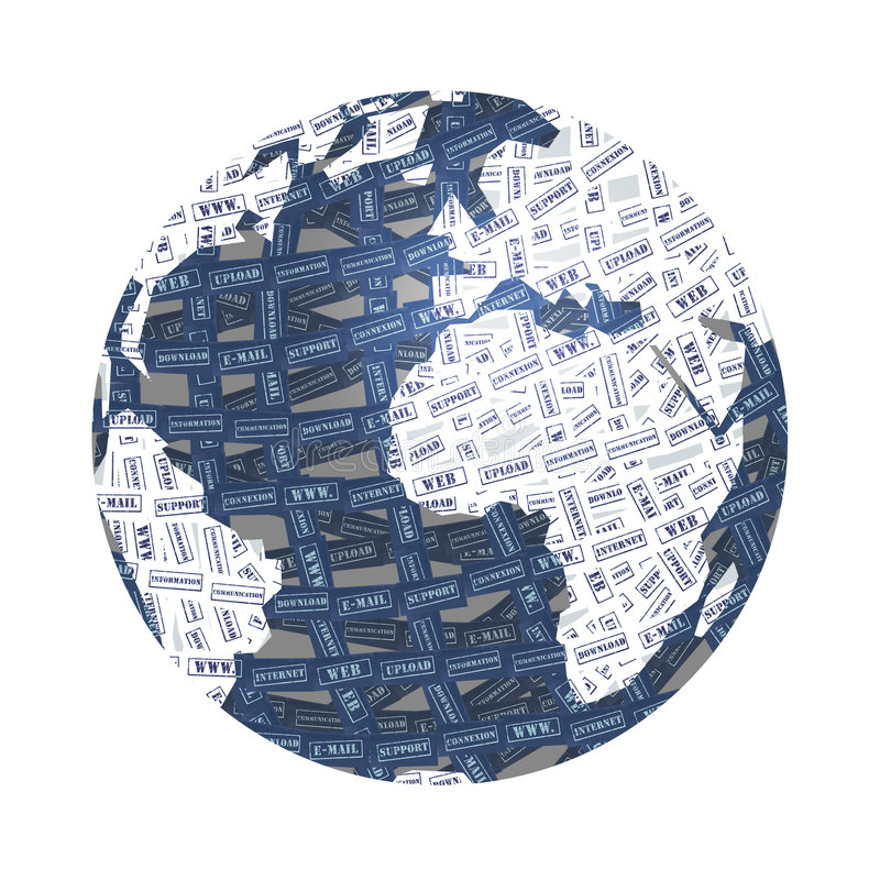 World & internet royalty free illustration