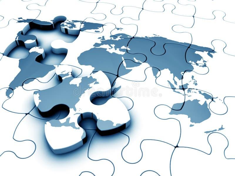 World jigsaw vector illustration