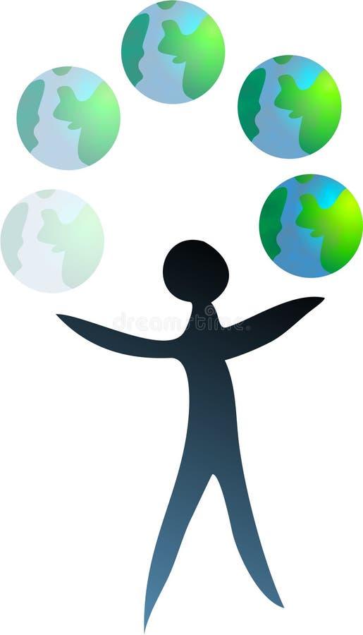 Download World Juggler stock illustration. Image of power, economics - 112658