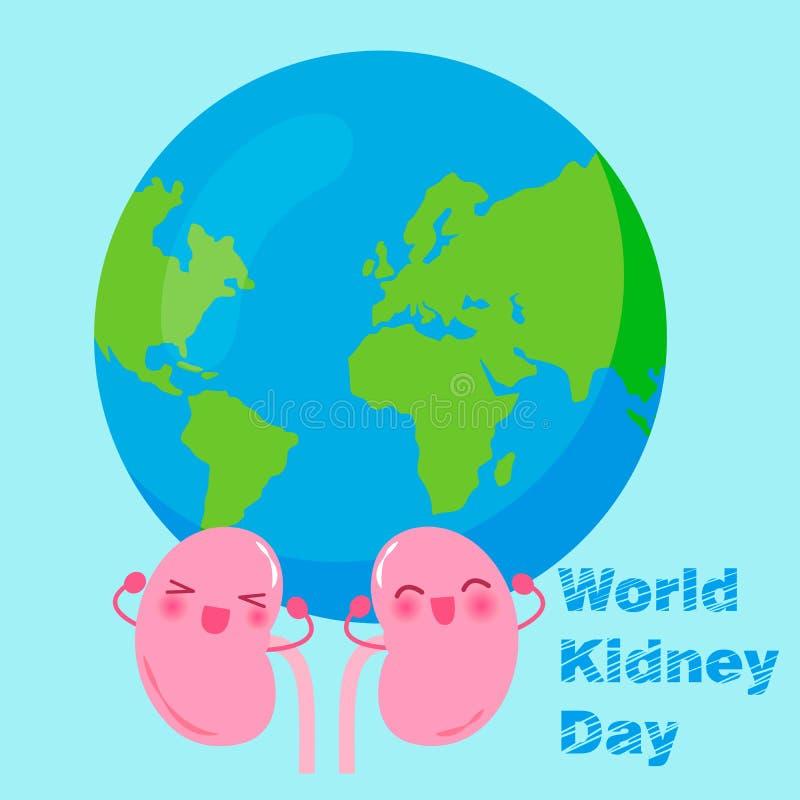 World kidney day concept stock illustration