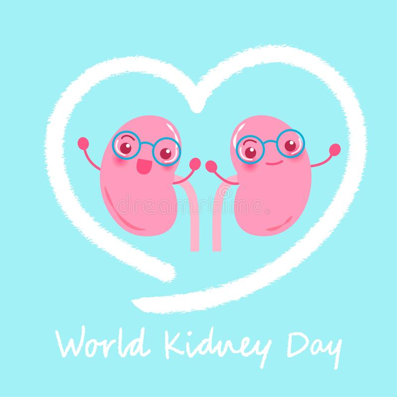 World kidney day concept royalty free illustration