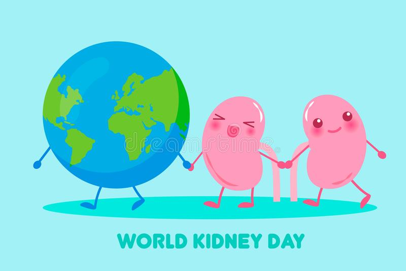 World kidney day concept vector illustration