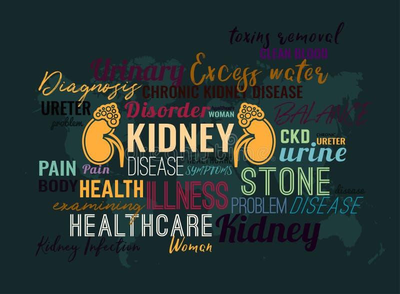 World kidney day stock illustration