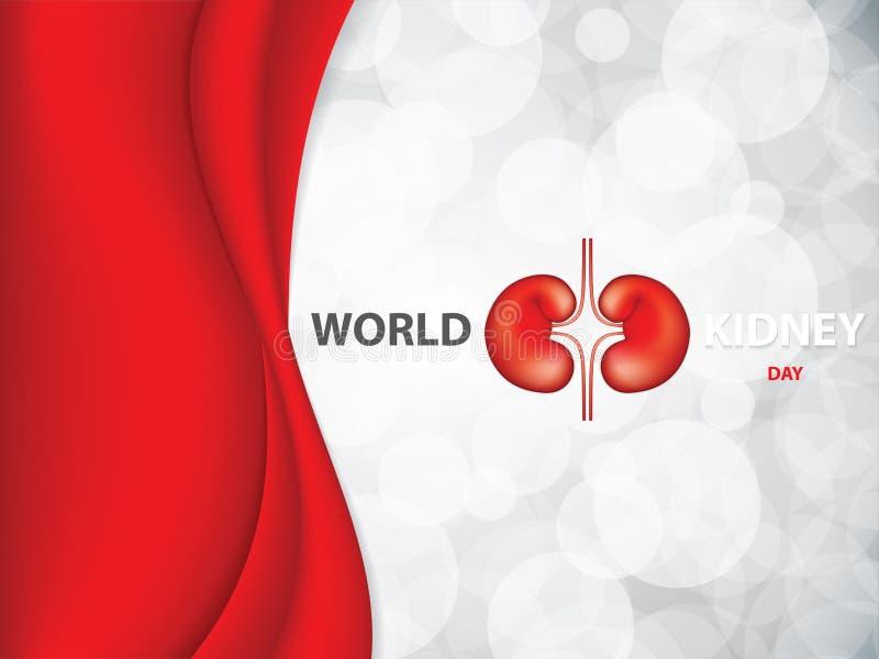 World kidney day royalty free illustration