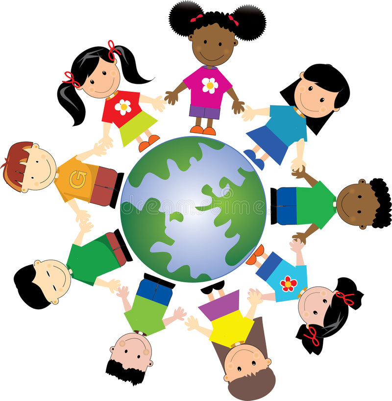 World kids 1 royalty free stock images