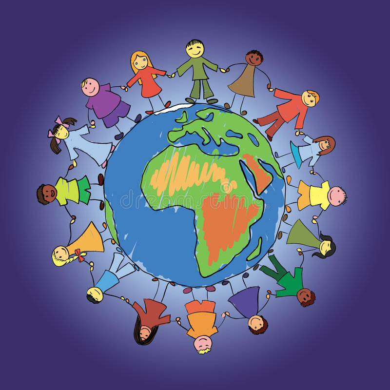 World kids royalty free stock image