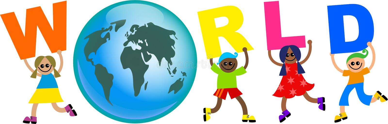 World kids royalty free illustration