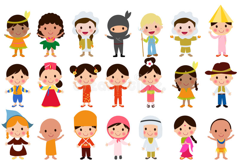World kids stock illustration