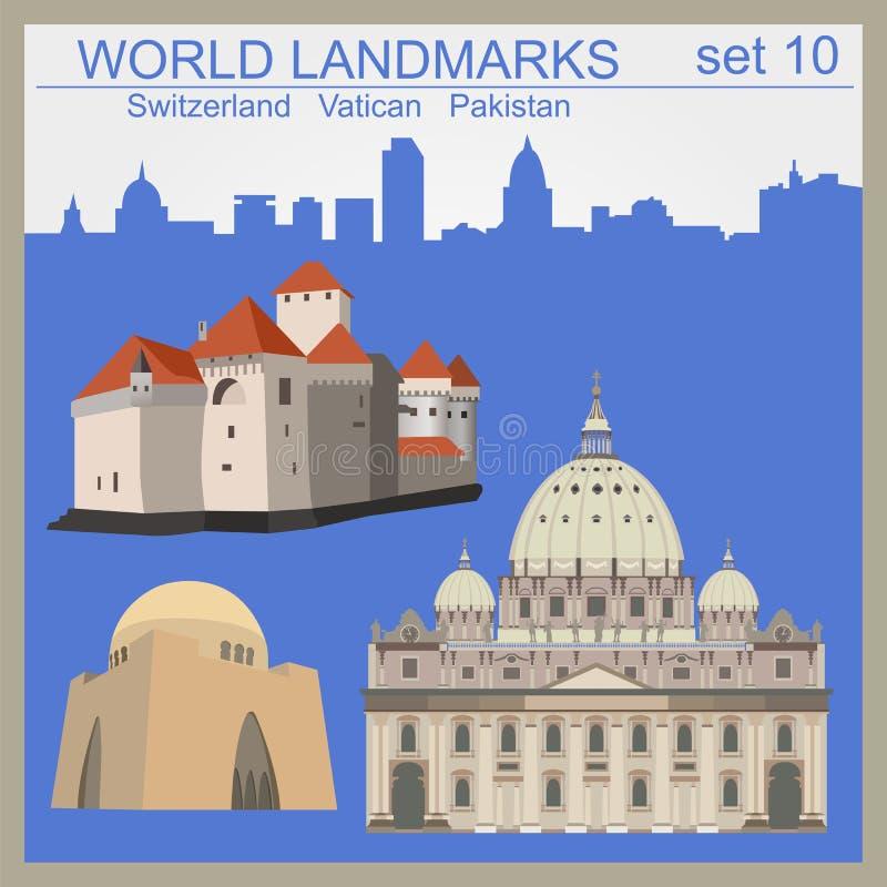 World landmarks icon set. Elements for creating infographics. Vector illustration vector illustration