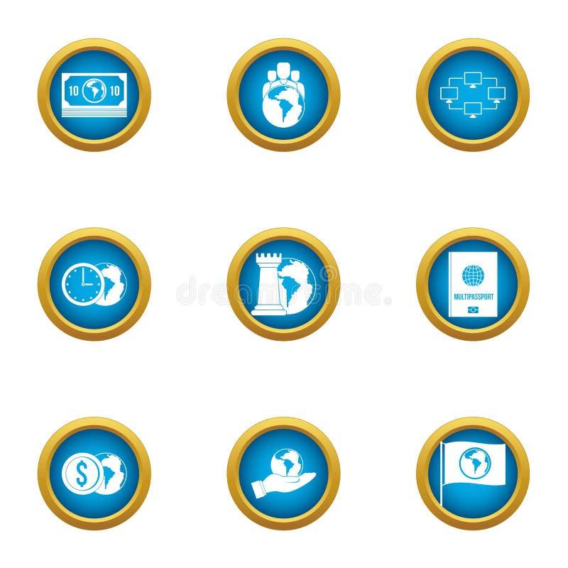 World level icons set, flat style. World level icons set. Flat set of 9 world level vector icons for web isolated on white background vector illustration