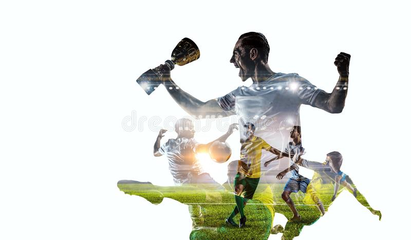 World loved game. Mixed media stock image