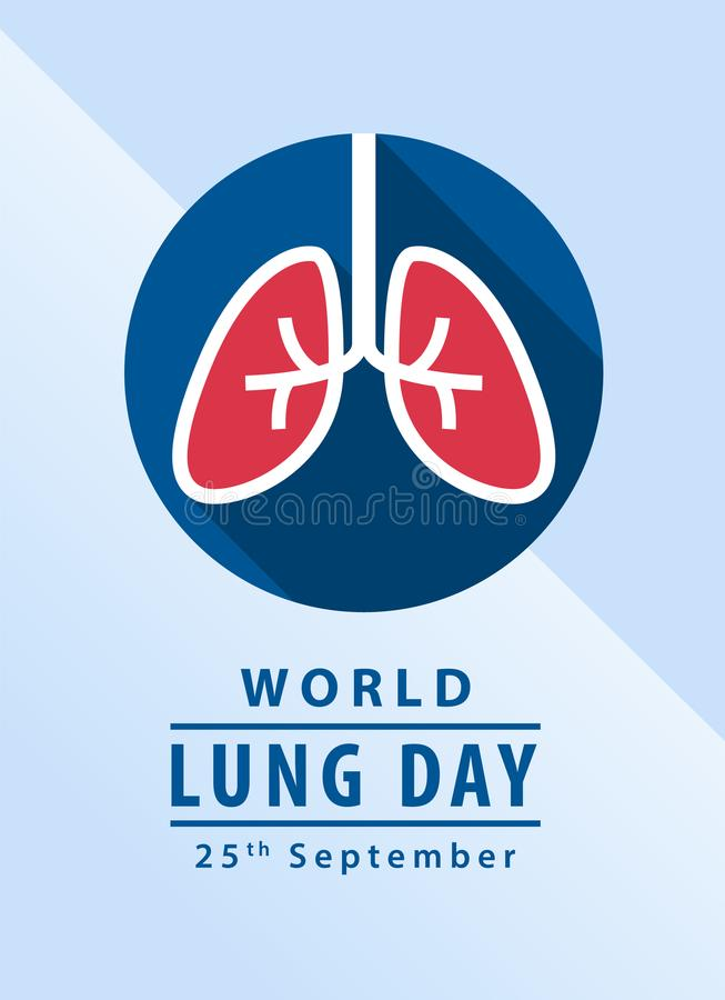 World lung day banner with lung in circle sign vector design vector illustration