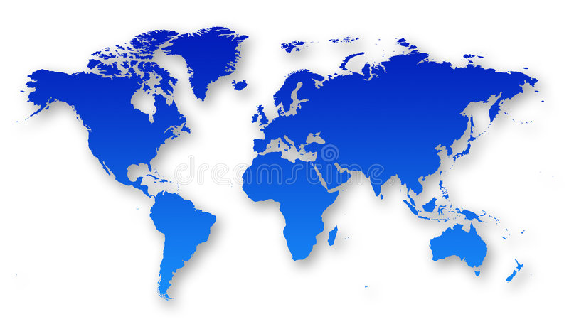 World map royalty free illustration