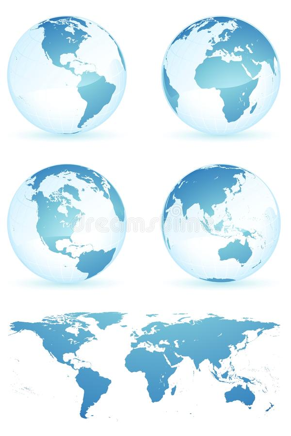World map. Picture show all the areas