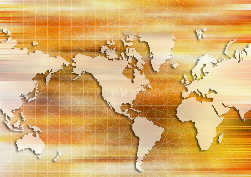 World map. Warm world map with grid in background vector illustration