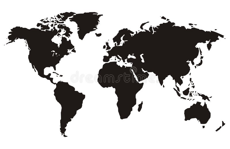World Map. S, continents and travel vector illustration