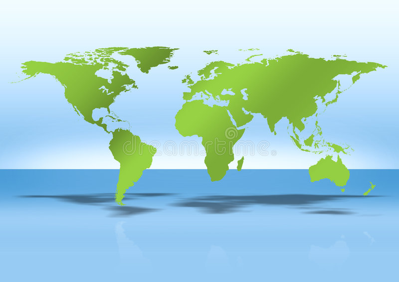 World map. Illustration. map of the world with shadow vector illustration