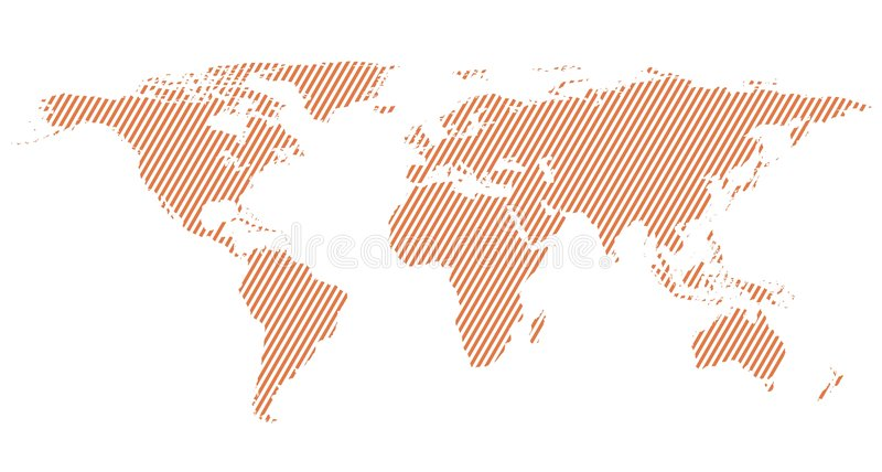 World map. With diagonal lines. map of the world. earth map illustration vector illustration