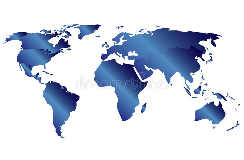 Download World Map stock vector. Image of glossy, continent, atlas - 19051553