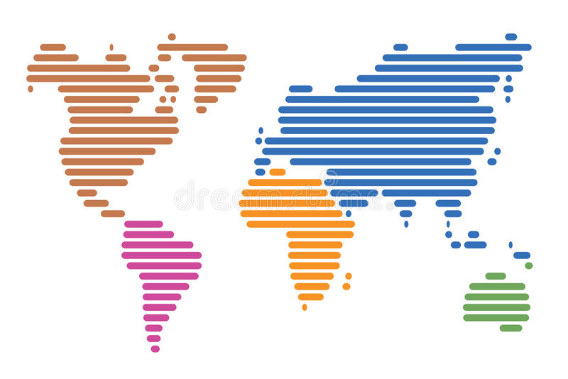 Download World map stock vector. Illustration of world, lines - 22082785