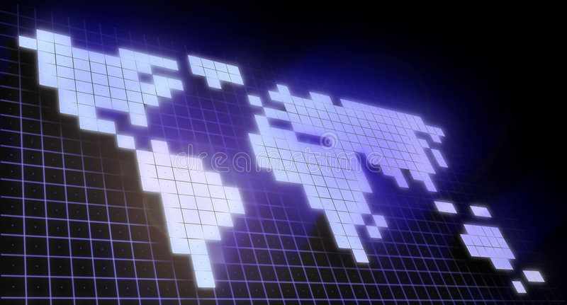 Download World map stock image. Image of computer, rendering, square - 2306243