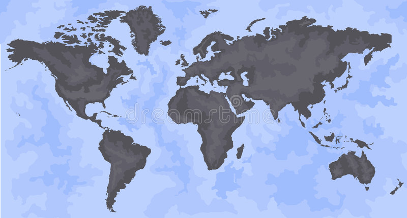 Download World Map stock vector. Image of asia, continental, concept - 2330012