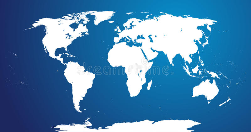 Download World Map stock vector. Illustration of blue, china, canada - 25848197