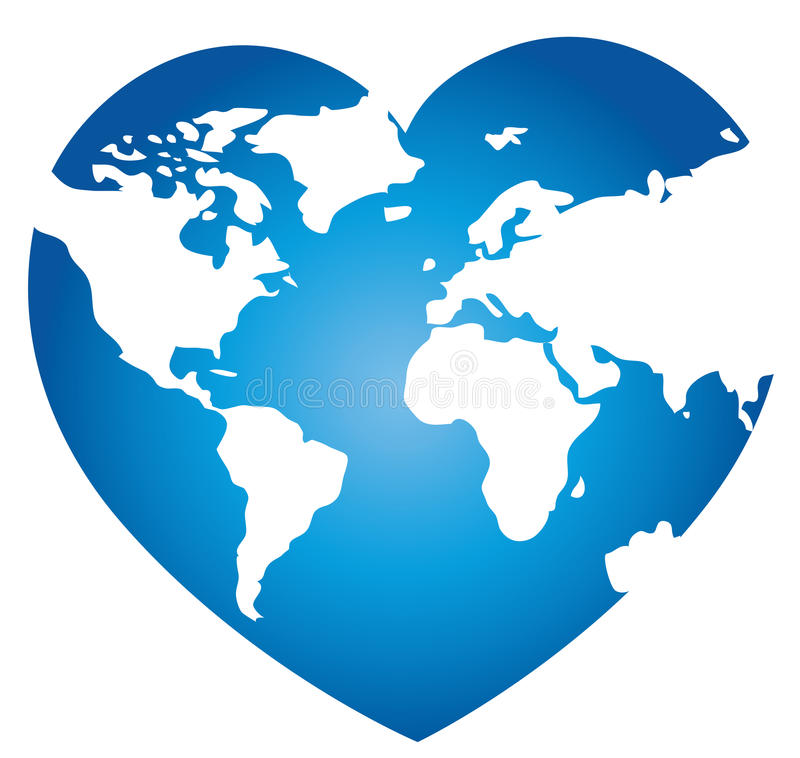 Download World map stock illustration. Image of love, heart, geography - 26559706