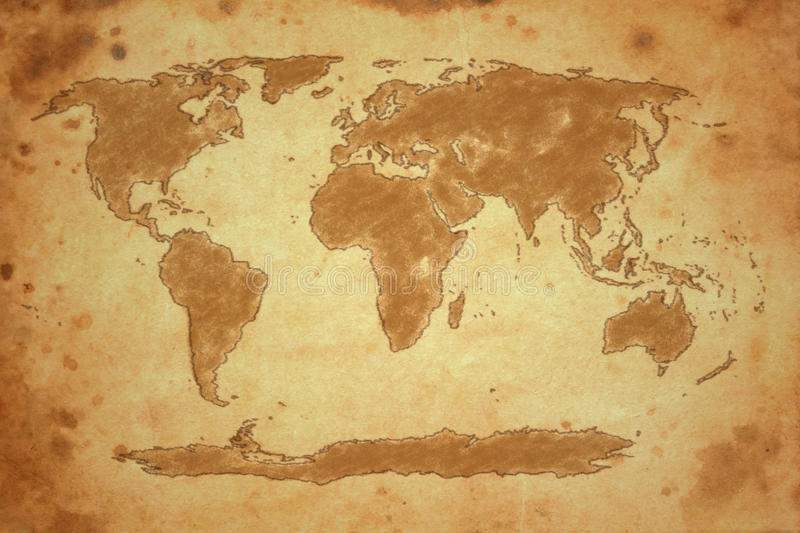 Download World map stock illustration. Image of smudged, earth - 27831700