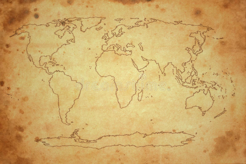 Download World map stock illustration. Image of wallpaper, aged - 27831842