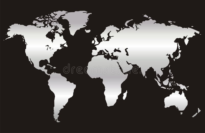 World Map 3. The Map of the World royalty free illustration
