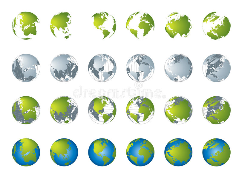 Download World map, 3D globe series stock vector. Image of graphic - 4289788
