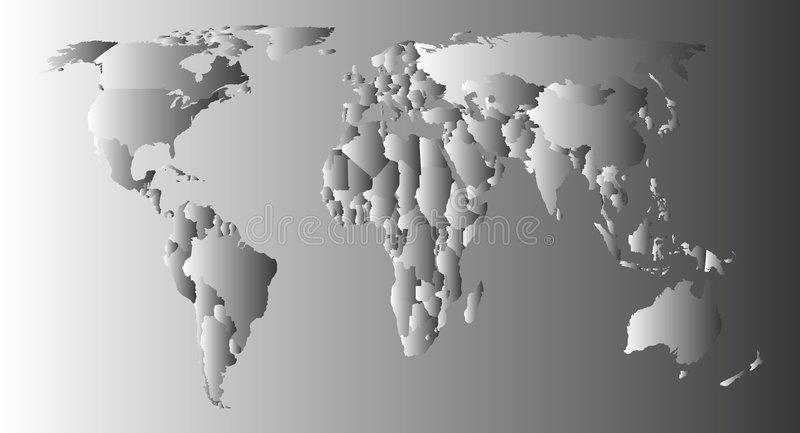 Download World Map stock vector. Image of geography, globalization - 4175580