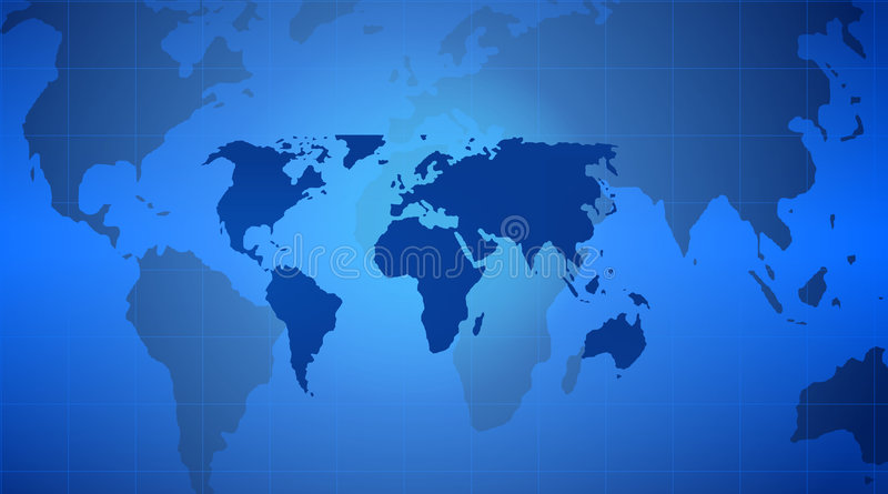 World map. Technology style with grid background royalty free illustration