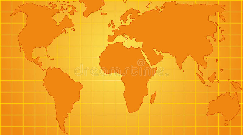World map. Map of the world technology style royalty free illustration