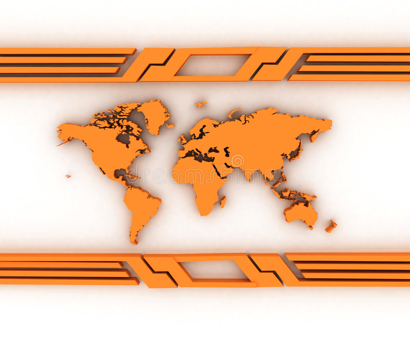 World map. 3D abstract background vector illustration