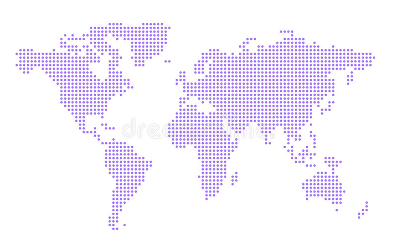 Download World Map stock illustration. Image of south, america, digital - 502372