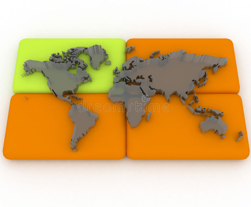 Download World map stock illustration. Illustration of cyberspace - 5025888