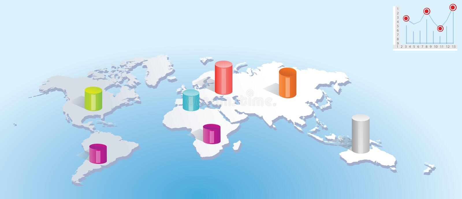 Download World Map stock vector. Illustration of digit, computer - 5144791