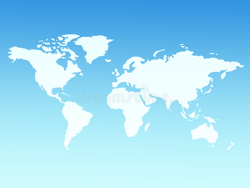 Download World Map Royalty Free Stock Photography - Image: 614107