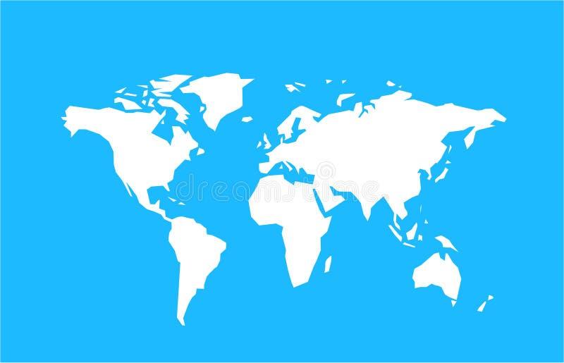 A world map vector illustration