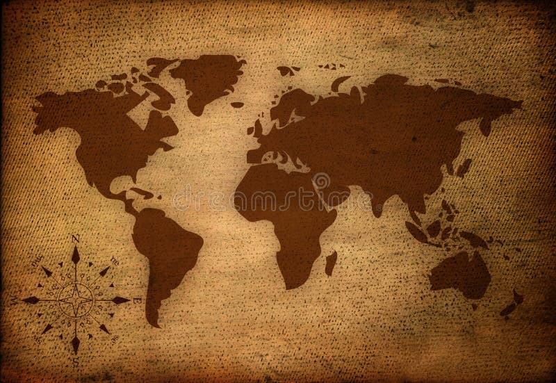 World map. On vintage paper