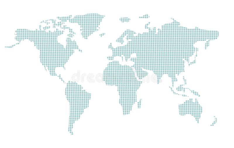 World map. Illustration in format