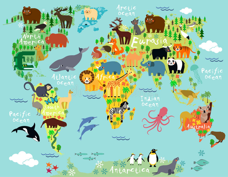 World map stock vector Illustration of australia madagascar 55961299