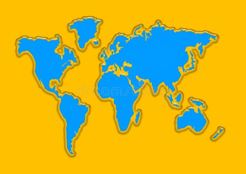 World map aqua royalty free stock photography