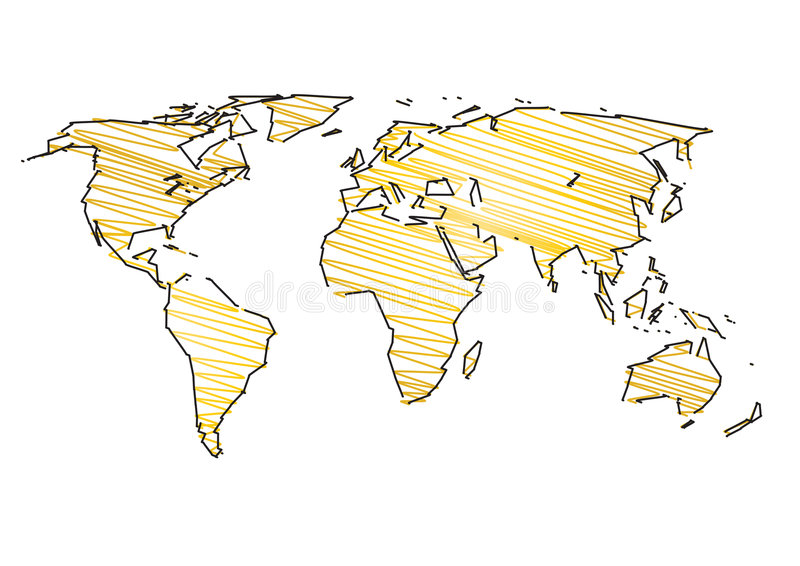Download World map art stock illustration. Image of communication - 7075603