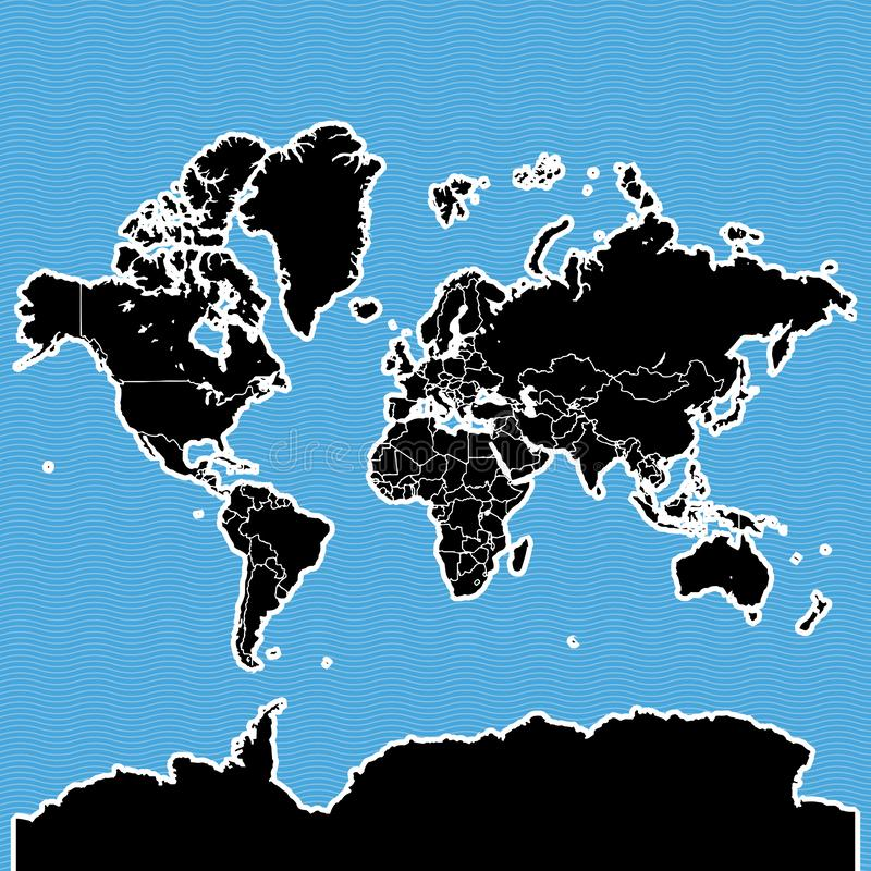 World map as island vector illustration