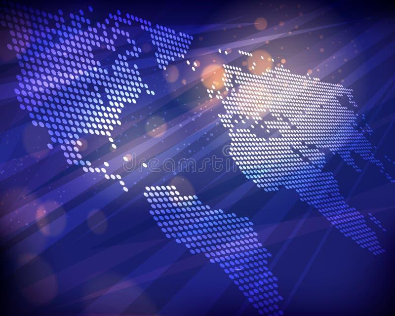 World Map Background stock illustration