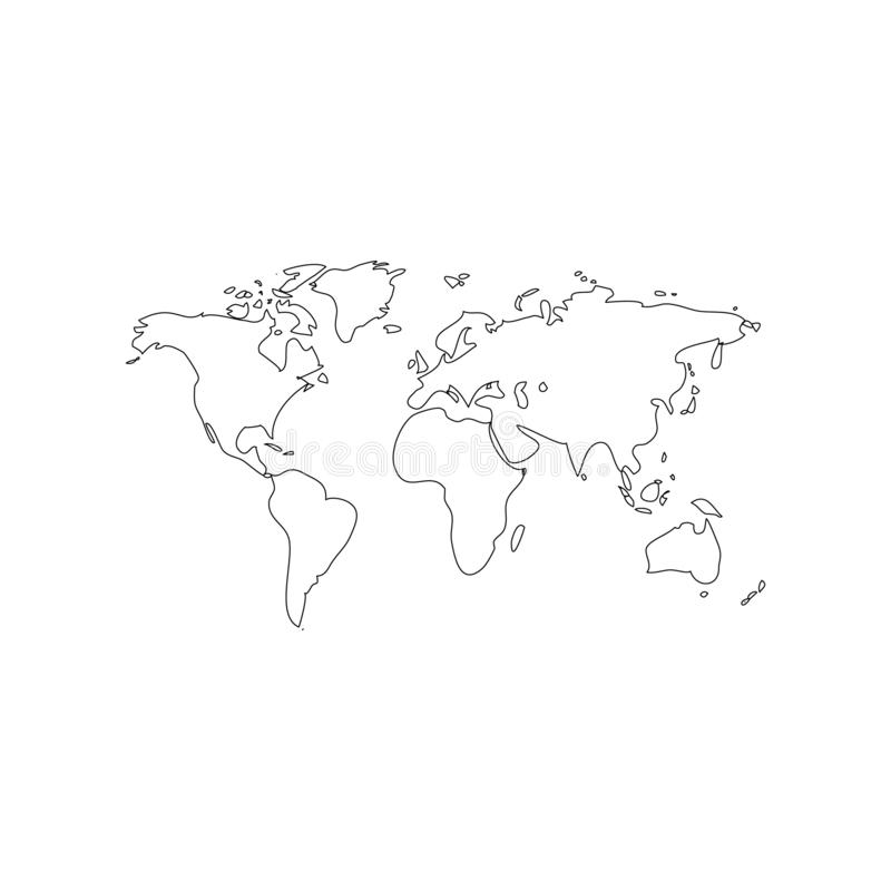 World map background simple design.  royalty free illustration
