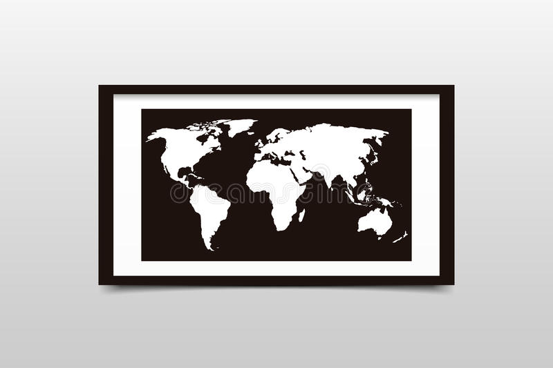 World map on a black frame vector illustration stock vector download world map on a black frame vector illustration stock vector illustration of advertisement gumiabroncs
